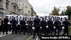 "Policija na protestu Inicijative ""Ne da(vi)mo Beograd"""