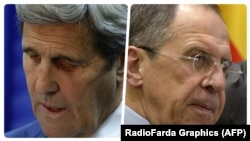 John Kerry (solda) və Sergei Lavrov