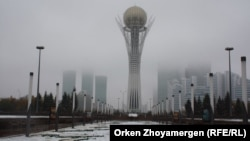Temperatures have fallen as low as minus 40 degrees centigrade in parts of Kazakhstan (file photo).
