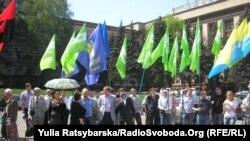 Масова акція в Дніпропетровську: Активісти місцевої «Батьківщини» розпочали голодування на захист свого лідера, 27 квітня 2012 року