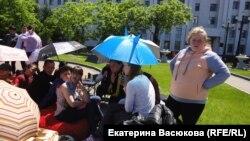 Сироты - участники голодовки в Хабаровске