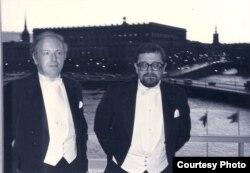 Лосев и Бродский на Нобелевской церемонии в Стокгольме