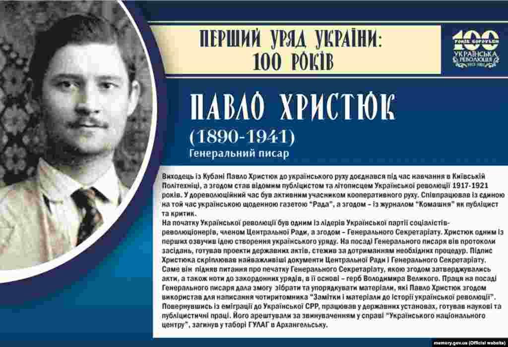 Павло Христюк, генеральний писар