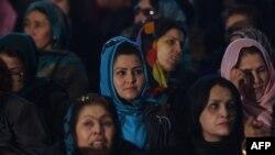 Авганистанки на одбележување на меѓународниот ден на жената во 2016 година