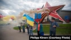 Під час акції на підтримку Надії Савченко на Луб'янській площі Москви, 11 травня 2015 року