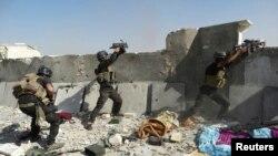 Forcat speciale të Irakut gjatë përleshjeve me militantët