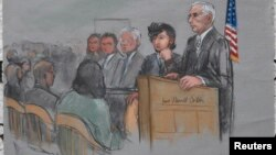 Джохар Царнаев в день открытия судебного процесса