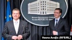 Maroš Šefčovič i Aleksandar Vučić