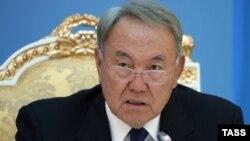 Қазақстан президенті Нұрсұлтан Назарбаев .