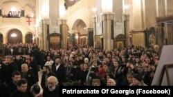 Служба в кафедральном соборе Святой Троицы (Самеба) в Тбилиси, 1 марта 2020 г.