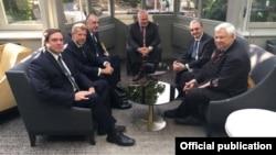 Встреча глав МИД Армении и Азербайджана в Брюсселе, 11 июля 2018 г.