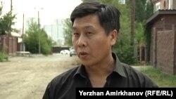 Правозащитник Евгений Цай, руководитель общественного объединения «Камкорлык». Астана, 30 июля 2015 года.