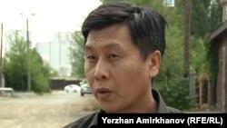 Руководитель общественного объединения «Камкорлык» Евгений Цай. Астана, 30 июля 2015 года.