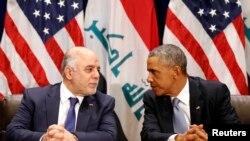 أوباما والعبادي - نيويورك 24 أيلول 2014