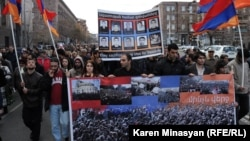 Armenia -- Opposition supporters pay tribute to victims of March 1, 2008 violence in Yerevan, 01Mar2013