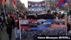 Ermənistan müxalifətinin yerevanda keçirdiyi anım mərasimi. 1 mart 2013