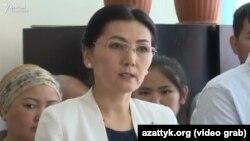 Аида Салянова на судебном заседании, 16 июня 2017 г.