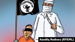 Медицина в Азербайджане. Карикатура Гюндюза Агаева