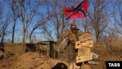 Проросійські сепаратисти в Новоазовську, архівне фото