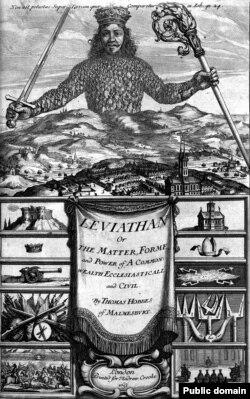 """Thomas Hobbes, """"Leviathan"""" - coperta cărţii, 1651"""