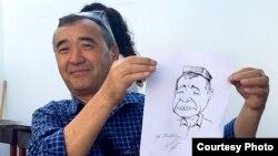 Карикатурачи рассом Маҳмуджон Эшонқулов