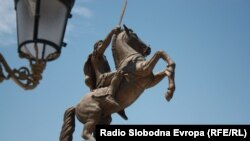 """Споменикот """"Воин на коњ"""" или Александар Велики во Скопје"""