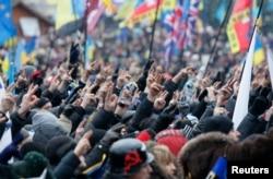 Проевропейский протест на Майдане в Киеве, декабрь 2013 года
