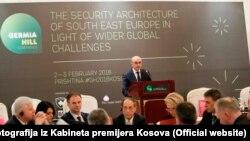 Premijer Isa Mustafa na Grmija Hill konferenciji