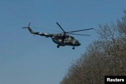 Український вертоліт біля Слов'янська, 25 квітня 2014 року