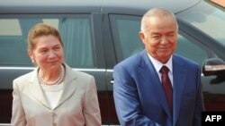Өзбекстан президенті Ислам Каримов пен жұбайы Татьяна Каримова. Үндістан, 18 мамыр 2011 жыл.