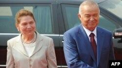 Ислом Каримов бо ҳамсараш Татяна