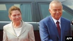 Президент Узбекистана Ислам Каримов и его жена Татьяна Каримова. Дели, 18 мая 2011 года.