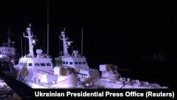 Повернуті кораблі в порту Очакова (Миколаївська область), 20 листопада 2019 року