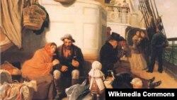 Джон Чарлз Долман, «Карабель з эмігрантамі» (1884)
