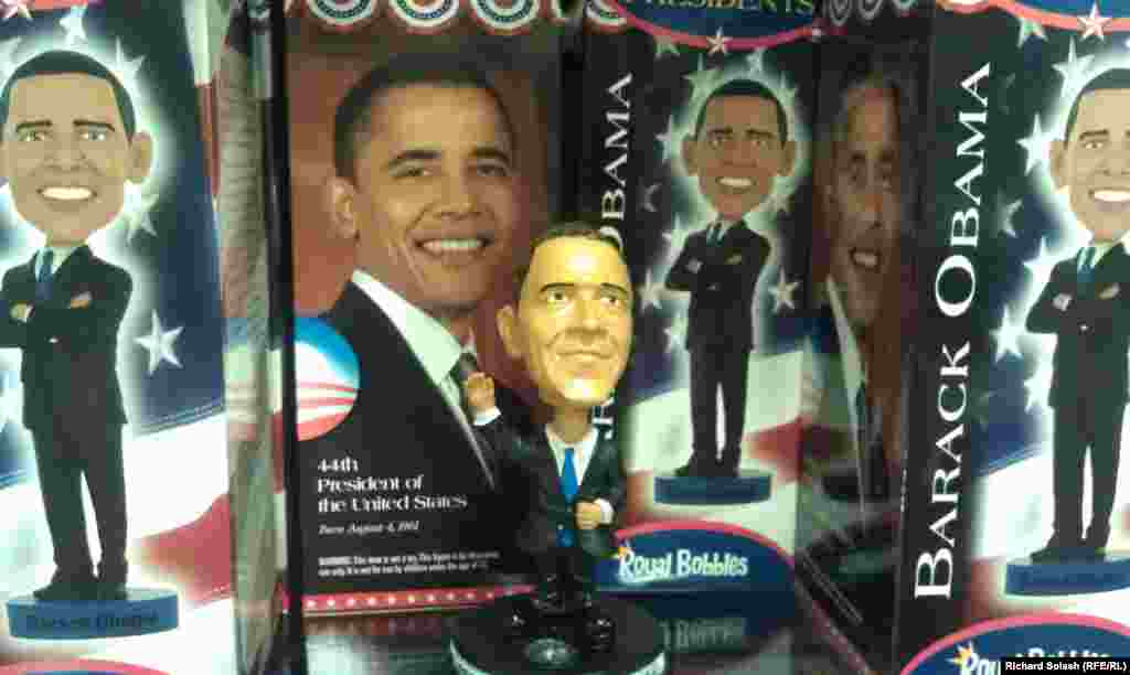 Obama bobble-head doll