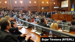 All 107 deputies present voted for the measure. Ethnic Serb members of Kosovo's parliament boycotted the session.