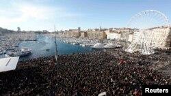 Масова жалобна акція в Марселі, 10 січня 2015 року