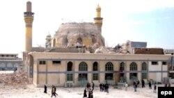 Џамијата по бомбашките напади во 2006 година