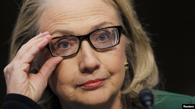 Hillary Clinton testifies in the Senate in January on the attack on U.S. diplomatic sites in Benghazi, Libya