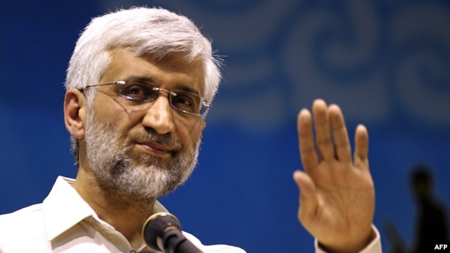 Iranian presidential candidate and top nuclear negotiator Said Jalili