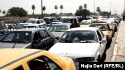زحام في أحد شوارع بغداد