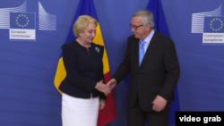 Viorică Dancilă primită de Jean-Claude Juncker, la Bruxelles, 5 decembrie 2018