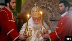 Патриарх Грузии Илия Второй (Архивное фото)