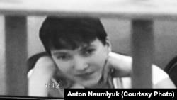Надежда Савченко сотқа видео байланыс арқылы қатыстырылды. Ростов облысы, Ресей, 21 тамыз 2015 жыл.