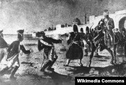 Bakı xanlığının qala qapıları önündə xanın qardaşı oğlu Aslan Sisianovu öldürür.