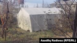 Nərəcan kəndində qurulan çadırlar