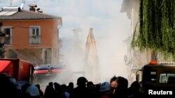 Իտալիա - Ամատրիչե քաղաքում հետցնցումները շարունակվում են՝ նոր փլուզումների պատճառ դառնալով, 25-ը օգոստոսի, 2016թ․