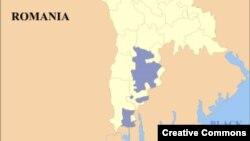 Молдова картасындағы көк түспен көрсетілген – Гагаузия аймағы.