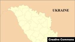 Молдавия картасында көкпен боялған тұс - гагауздар тұратын жерлер.