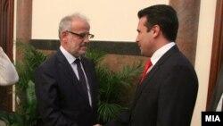 Зоран Заев и Талат Џафери